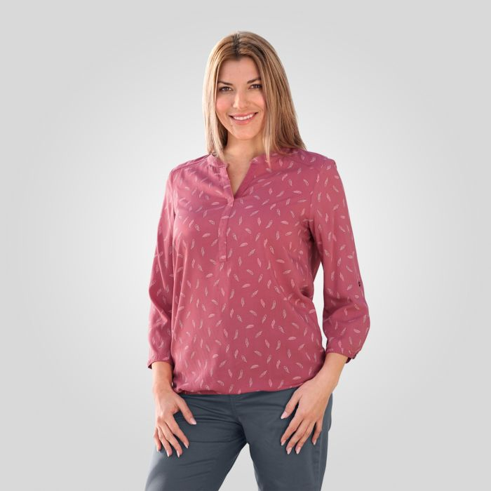 Miss Beverly Tunika-Bluse Damen mit Federprint