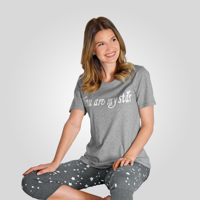 Pyjama Artime pour dames à motif devant