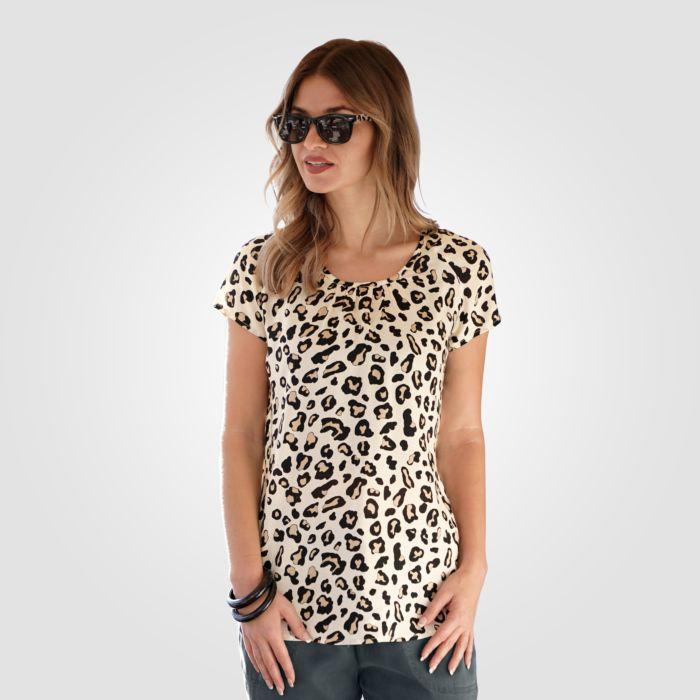 Blusenshirt mit Animalprint