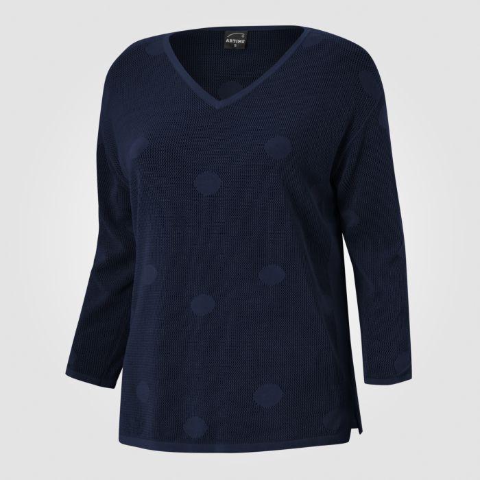 Image of 3/4 Arm Pullover V-Neck