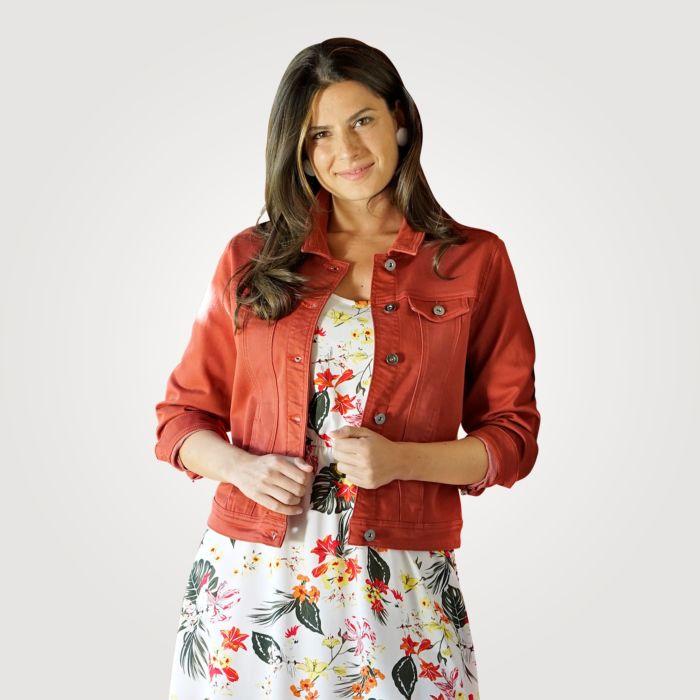 Leichte Damen-Sweat-Jeansjacke