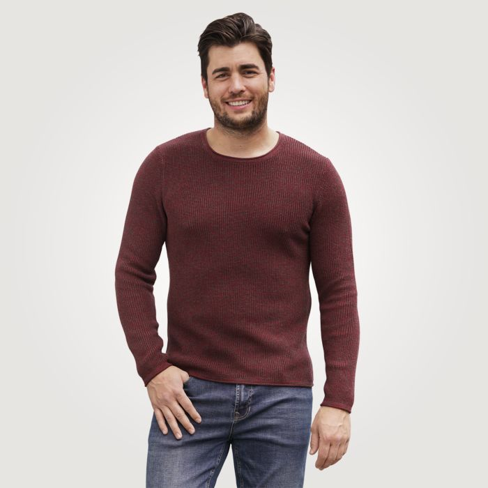 Pull-over chiné pour hommes