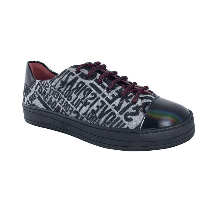 Desigual Sneaker Buchstaben schwarz-weiss