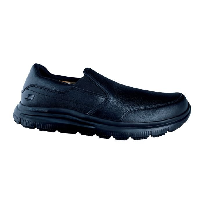 Chaussure SKECHERS à lacer en cuir pour hommes