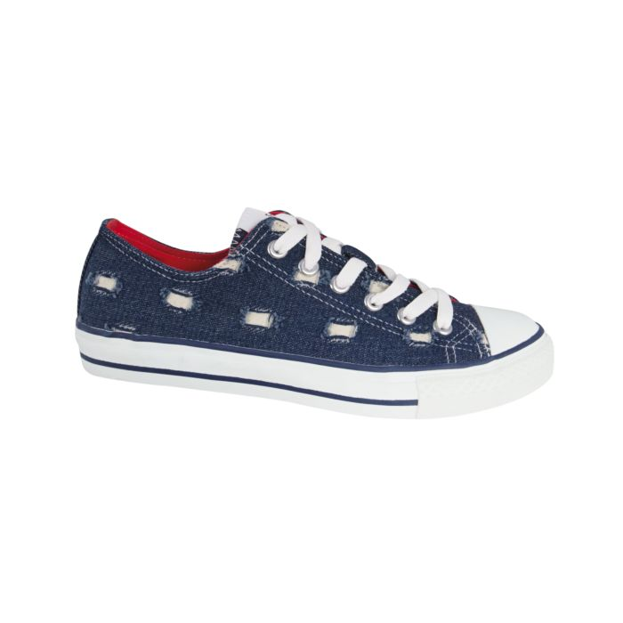 Image of Sneaker aus Textil im Destroyed-Look