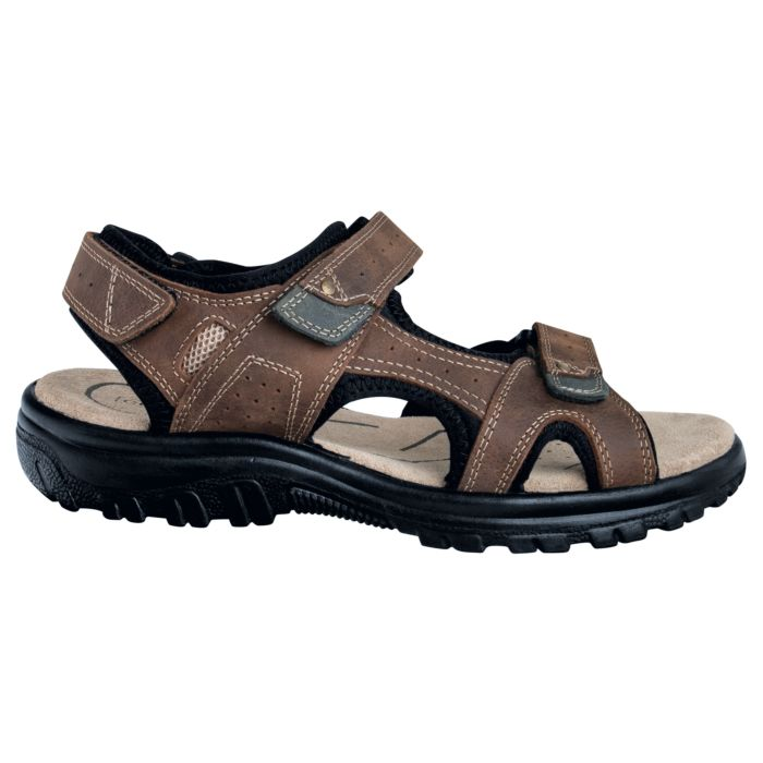 Sandale de trekking en cuir noir unisexe