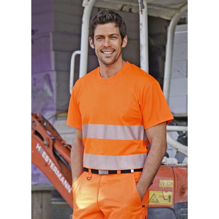 T-shirt de sécurité avec bandes réfléchissantes