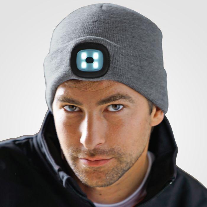 Strickmütze mit LED Licht
