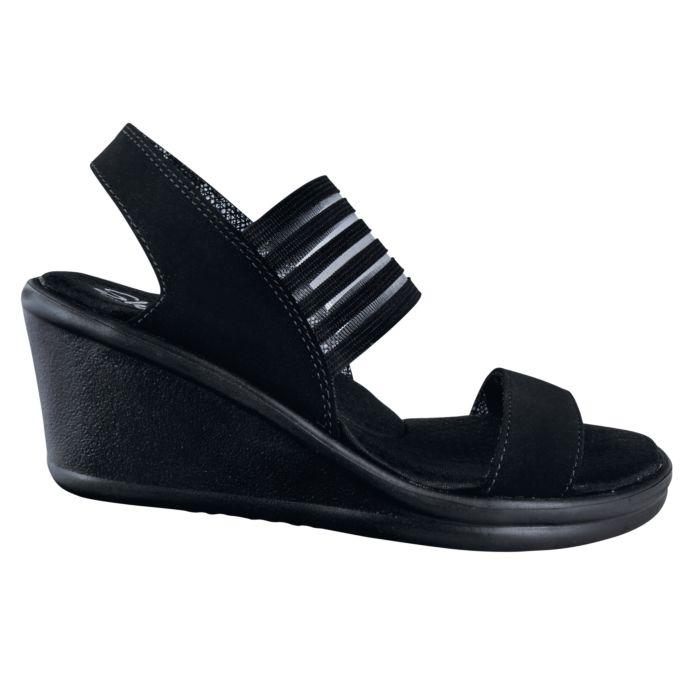 Trendige SKECHERS Sandale aus samtweichem Nubuckmaterial Damen