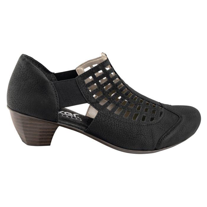 Chaussure Rieker en matière souple à perforations dames