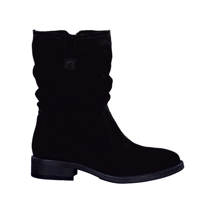 Botte Tamaris en cuir velours pour dames