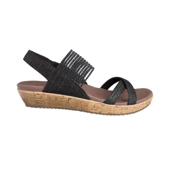 Sandalette SKECHRES en textile légèrement brillant