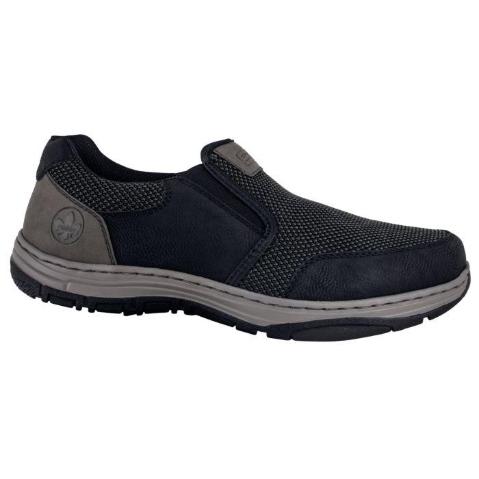 Chaussure Rieker confortable noir pour hommes