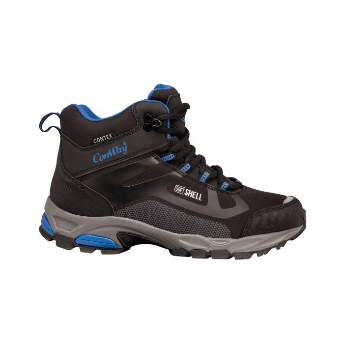 Chaussure de marche et de randonnée Mid Cut pour dames et hommes en softshell hydrofuge
