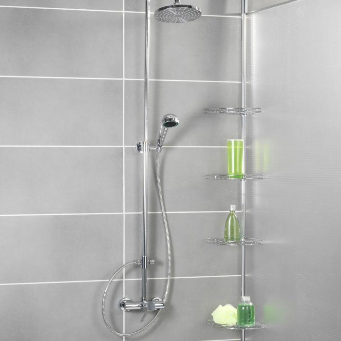 Etagère d'angle de douche téléscopique