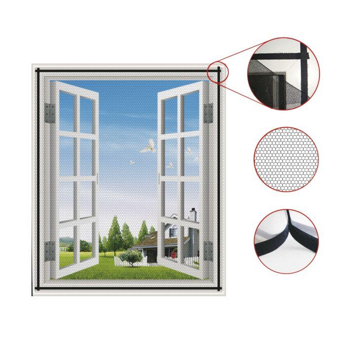 Moustiquaire fenêtre à velcro