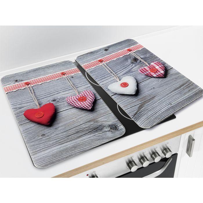 Glas-Abdeckplatten mit Herzen