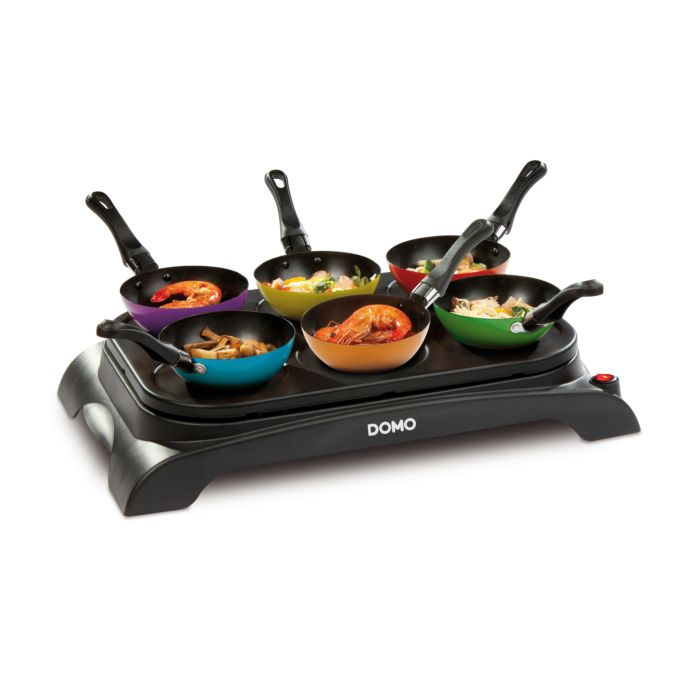Wok Party set Domo avec 6 mini-woks