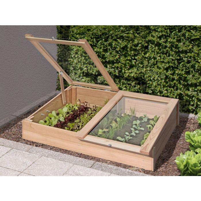 Mini serre de jardin 119x80 cm en mélèze FSC
