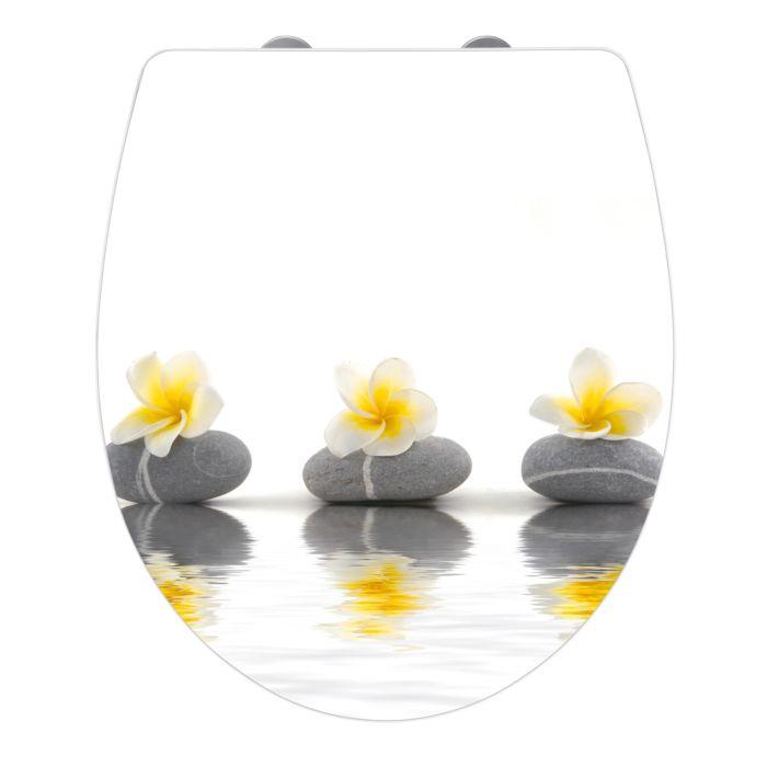 "Siège WC en Acryl avec design ""Stones"""