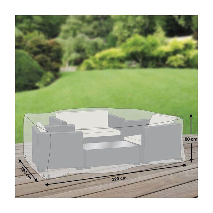 Schutzhülle in Grau für Garten-Sitzgruppe