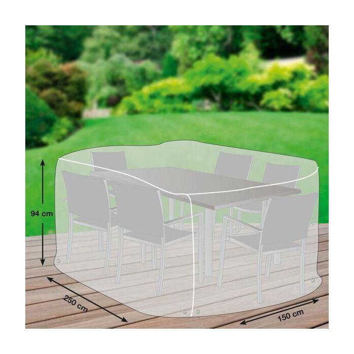 Schutzhülle für Tischgruppe in Grau