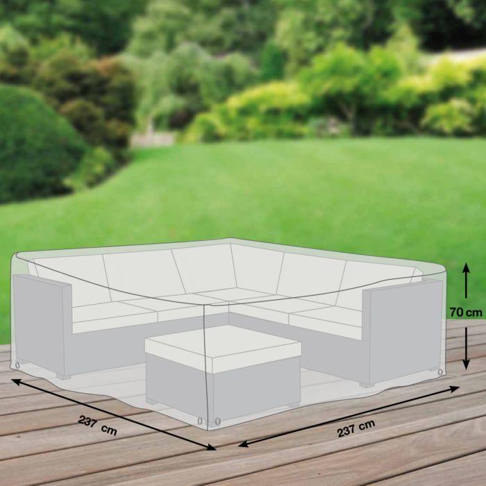Housse de protection pour salon de jardin d\'angle, gr. M