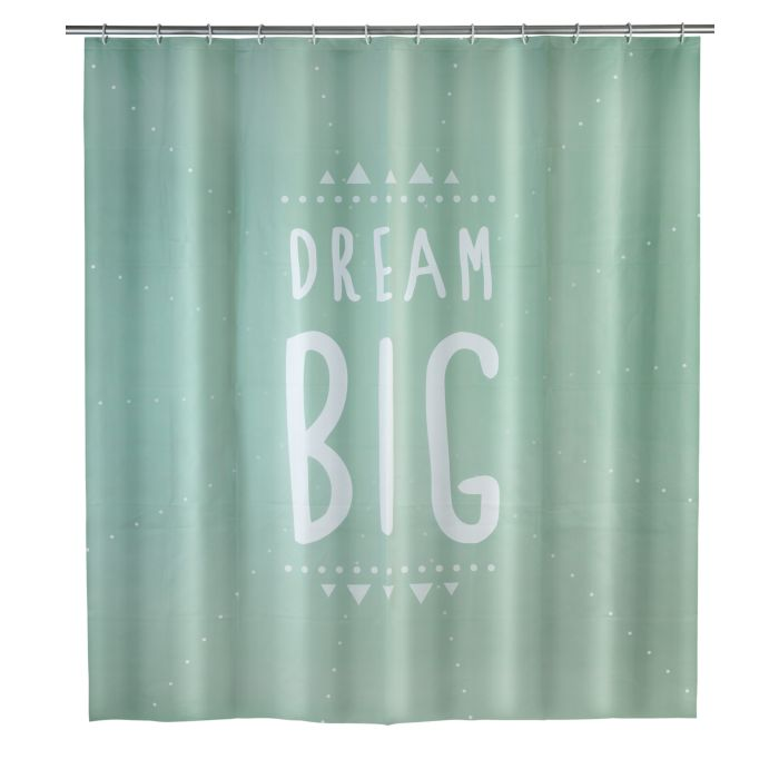 Duschvorhang Dream Big mint