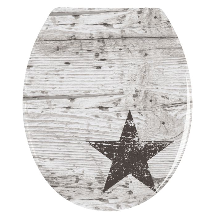 Lunette WC Star au look shabby chic