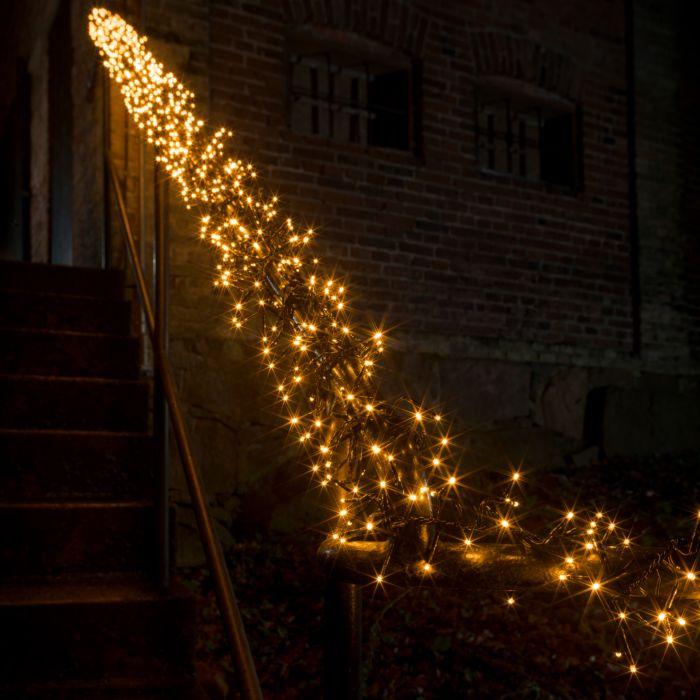 Guirlande lumineuse micro LED en touffes