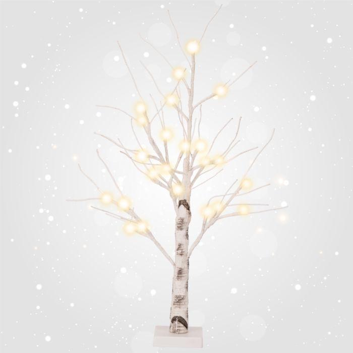 LED-Birkenbäumchen weiss