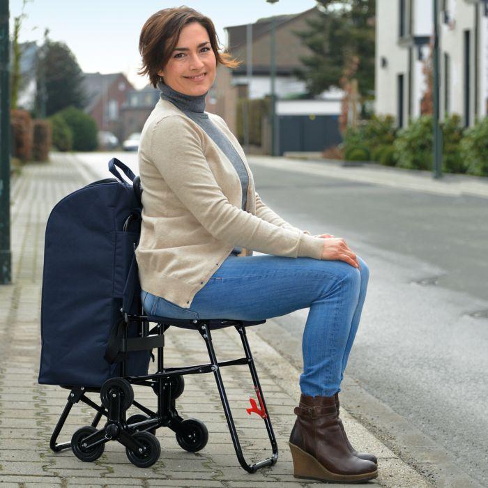 Chariot à commissions avec siège