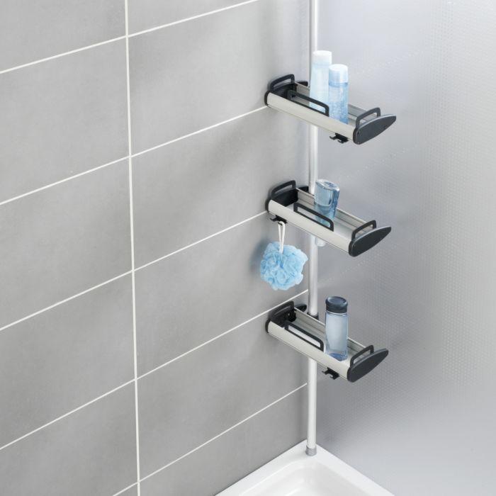 Etag re d 39 angle de douche t l scopique lehner versand - Etagere d angle telescopique douche ...