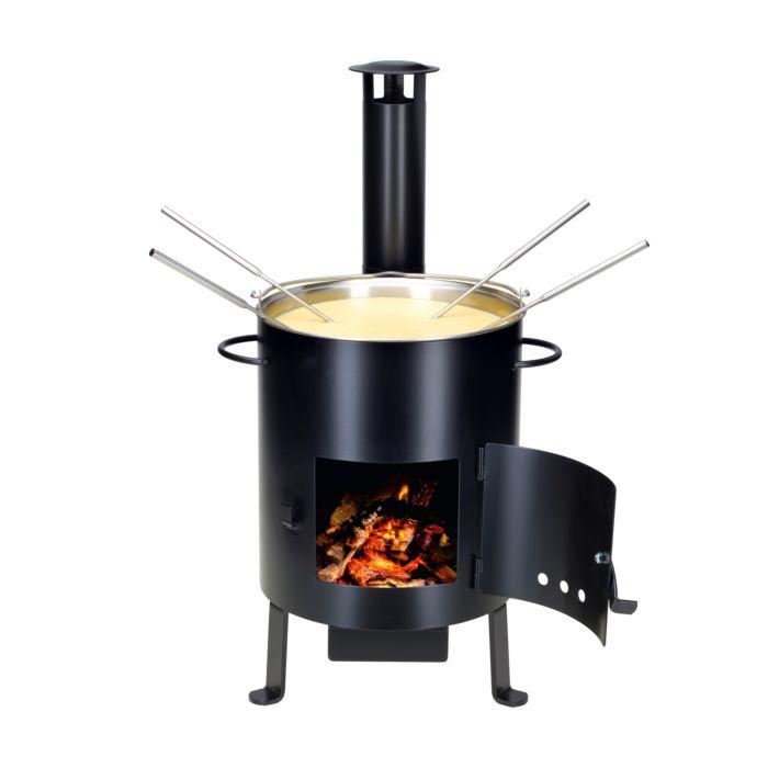 fourneau Openair à fondue & grillades