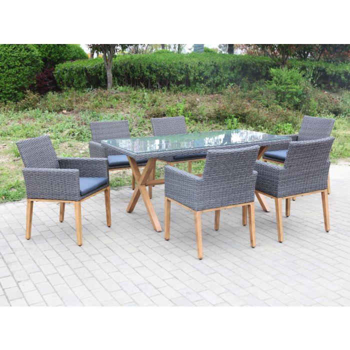 Tisch und 6 Sessel Toscana