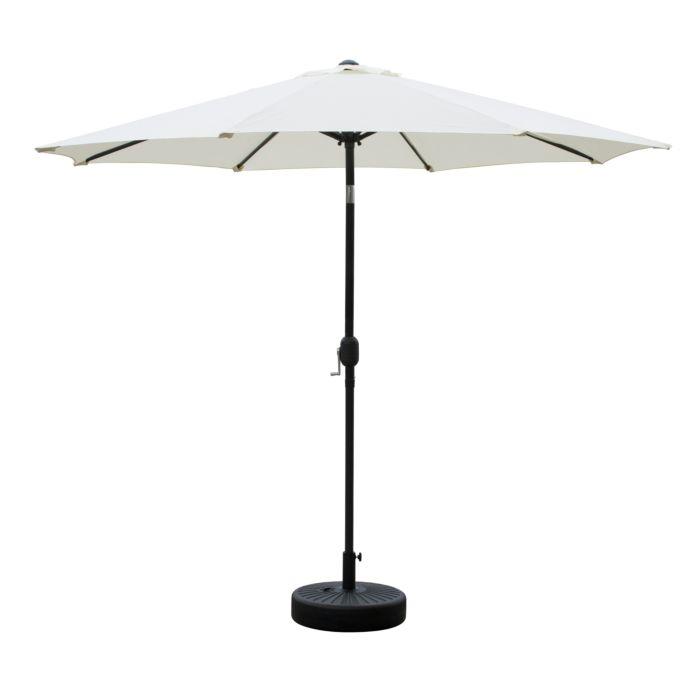 Parasol avec pied beige