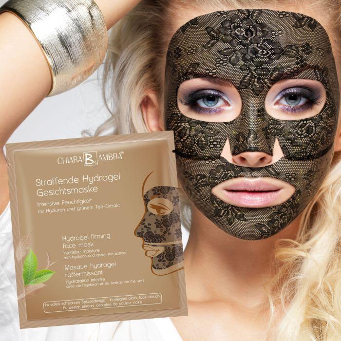 """3 masques """"dentelle"""" Hydrogel raffermissants pour le visage"""