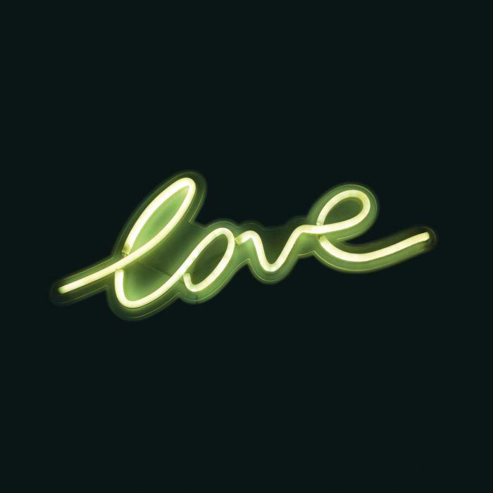 Lampe néon Love blanche