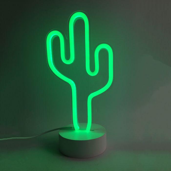 Kaktus Neon Leuchte grün