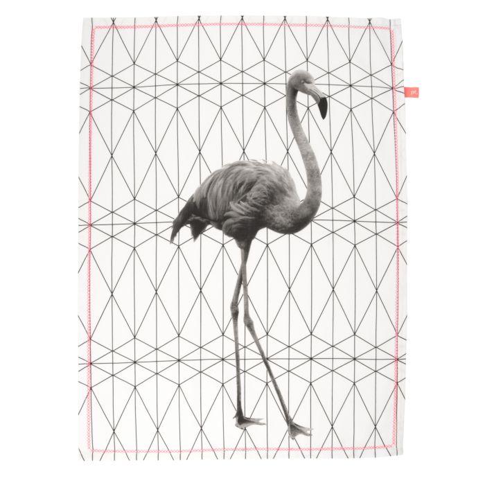 Küchentuch Flamingo weiss