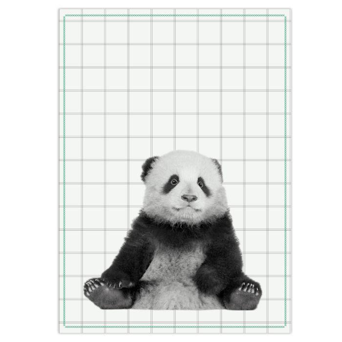 Küchentuch Pandabär weiss