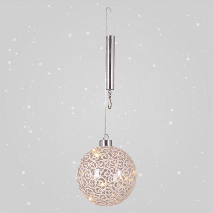 Boule LED en verre à suspendre
