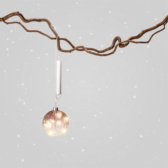 Boule LED Frosty en verre, 10 cm