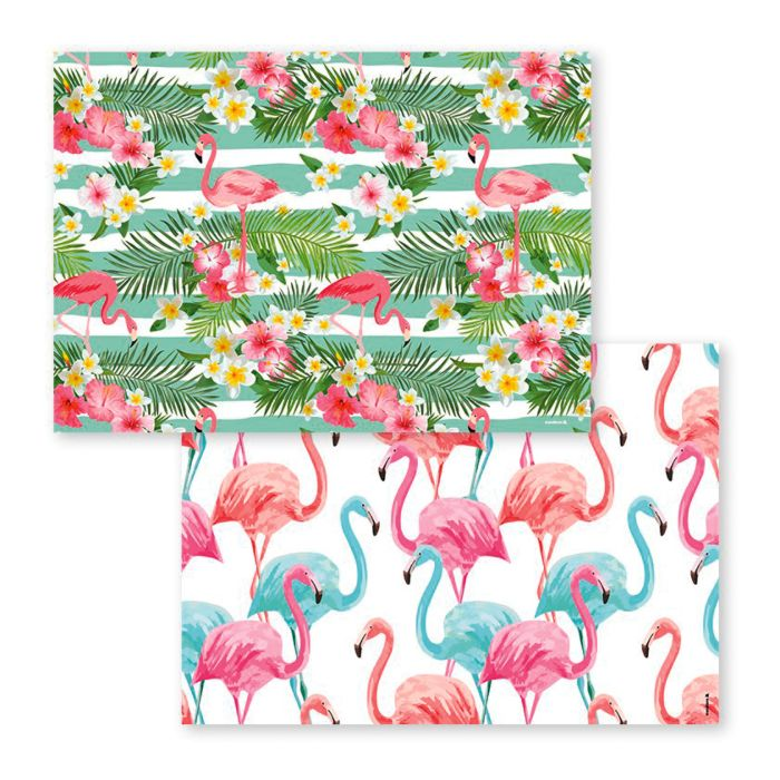 Papiertischset Flamingo-Motive