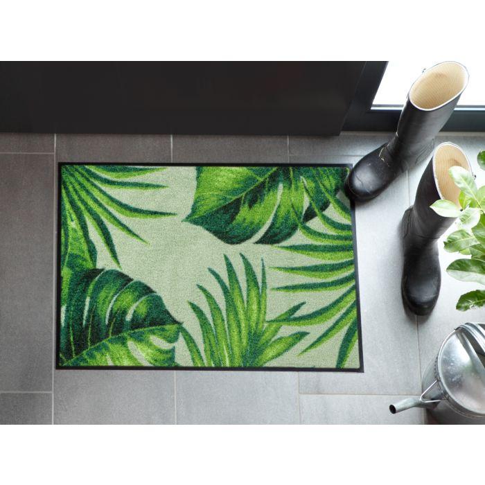 Fussmatte Tropical Blätter grün