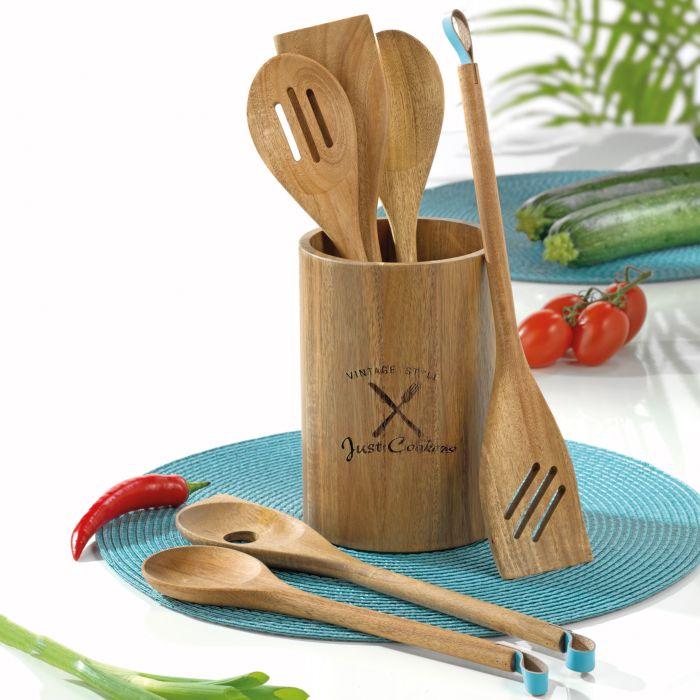 Küchenhelfer Set 7-teilig aus Akazie
