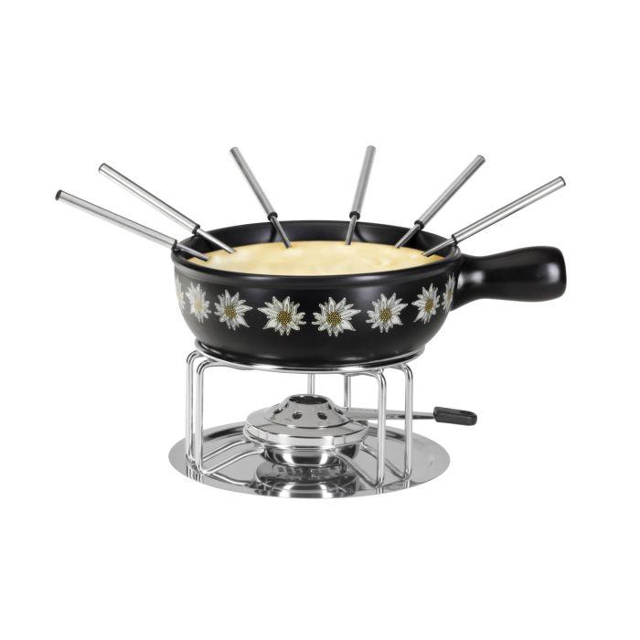 Service à fondue Edelweiss, 9 éléments