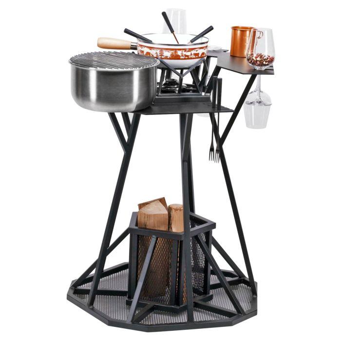 Bar à fondue/gril/plaque de cuisson Nouvel Modern Winter