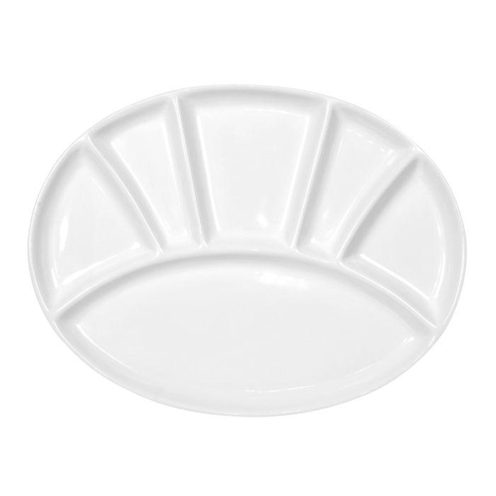 Assiette ovale pour fondue à la viande