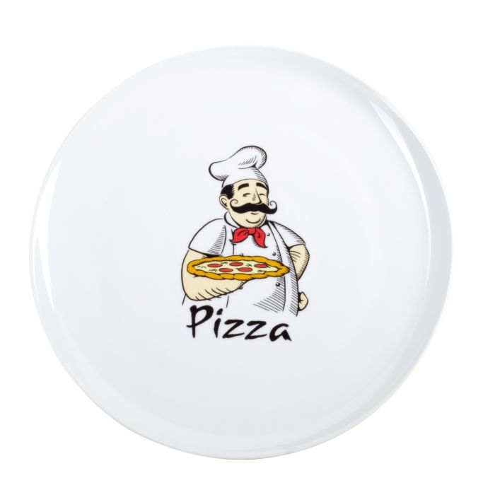 Nouvel Pizzateller 6er-Set mit Dekor Pizzakoch
